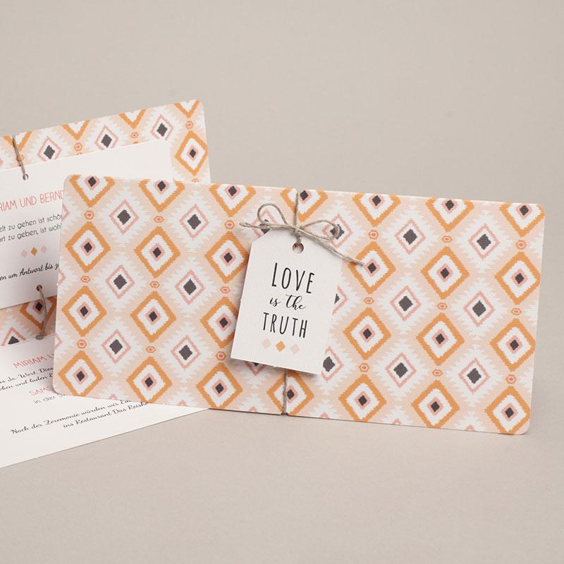 Einladungskarten Hochzeit  Boho Hippie