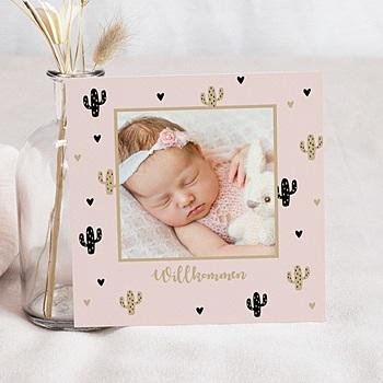 Geburtskarten für Mädchen - Katus und Gold - 0