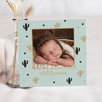 Geburtskarten für Jungen - Cactus d'or - 0