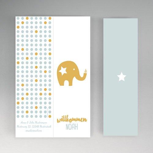 Geburtskarten mit Elefant Goldelefant gratuit