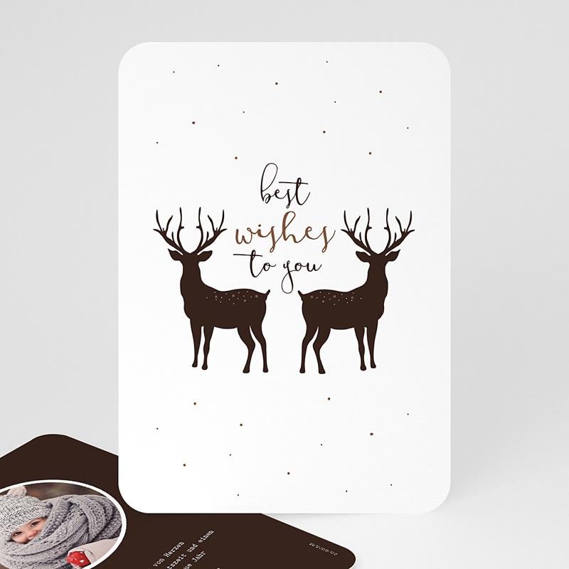 Weihnachtskarten Weihnachtshirsch