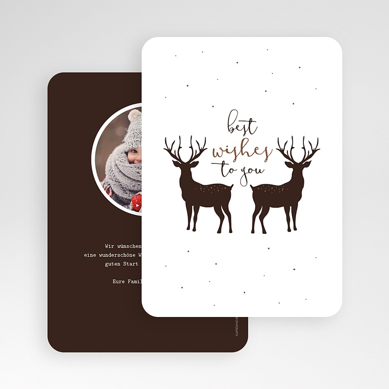 Weihnachtskarten Weihnachtshirsch gratuit