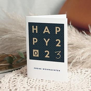 Weihnachtskarten - Happy Gold - 0