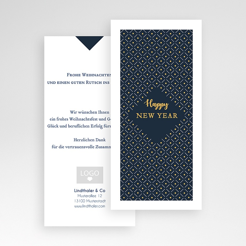 Geschäftliche Weihnachtskarten Weihnachtszauber pas cher