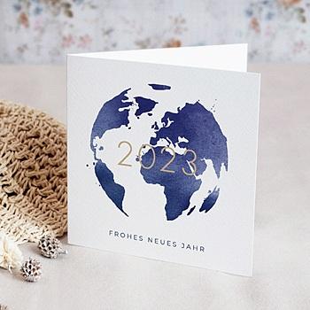 Weihnachtskarten - Weltkugel - 0