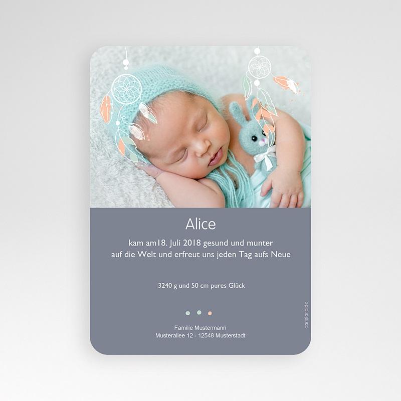 Geburtskarten für Mädchen - Dreamcatcher Vintage 55202 thumb