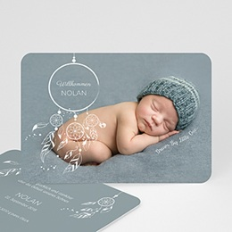 Karten Geburt Dreamcatcher Boho