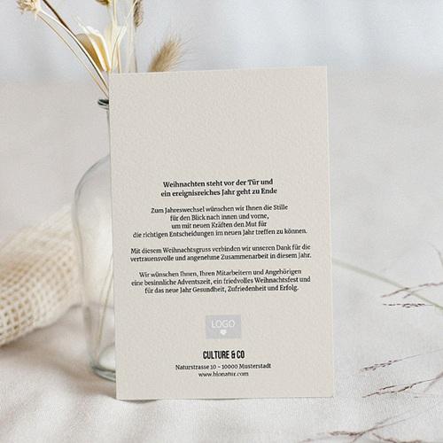 Geschäftliche Weihnachtskarten Minimalismus pas cher