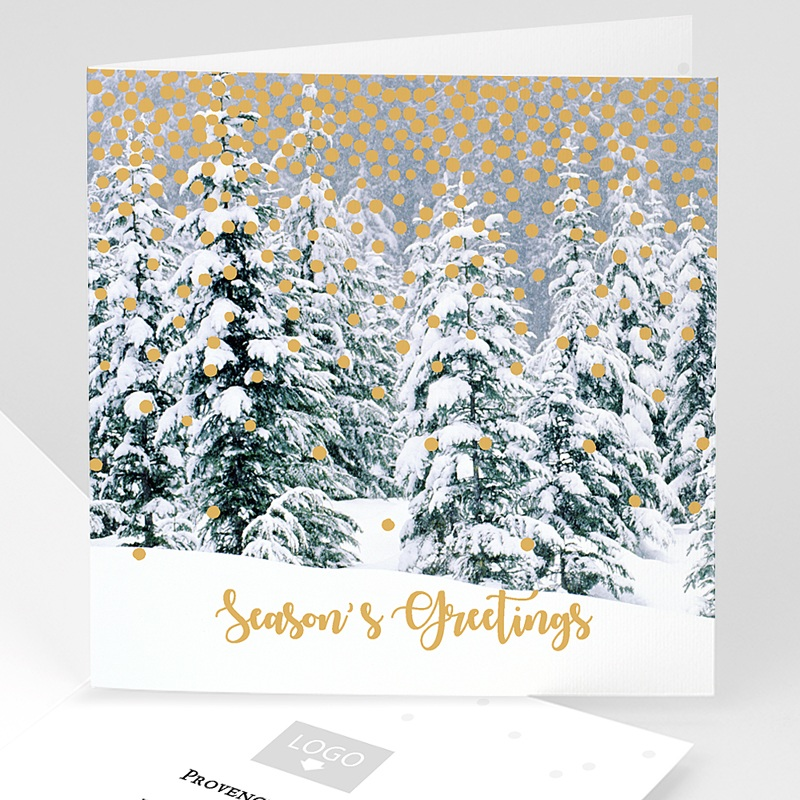 Geschäftliche Weihnachtskarten Waldzauber