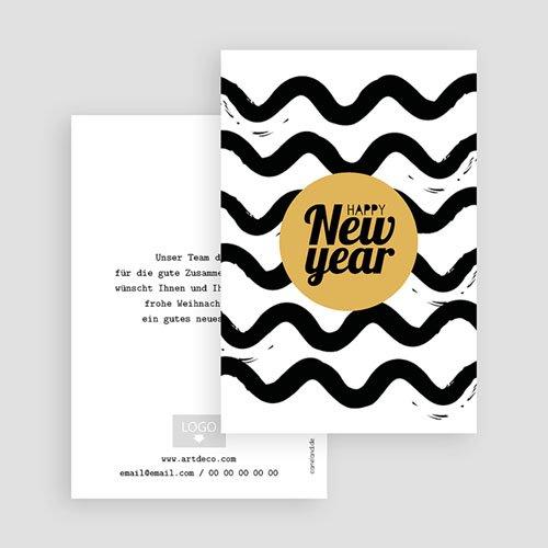 Geschäftliche Weihnachtskarten Happy Year gratuit