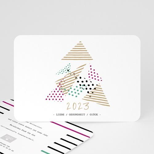 Weihnachtskarten - Modern Christmas Tree 55381 test