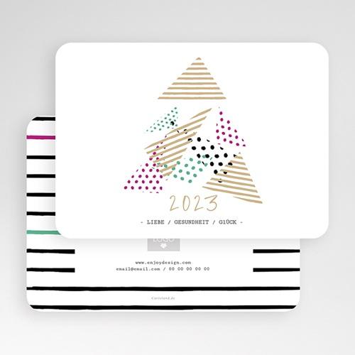 Weihnachtskarten - Modern Christmas Tree 55383 test