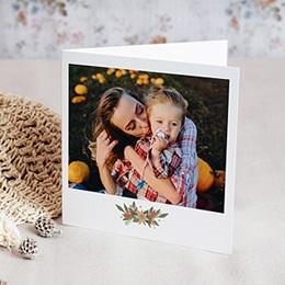 Weihnachtskarten Florales Fest