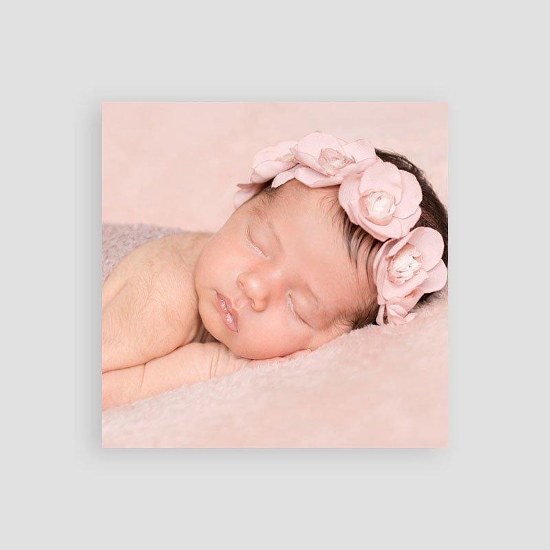 Dankeskarten Geburt Mädchen Danke in Gold pas cher