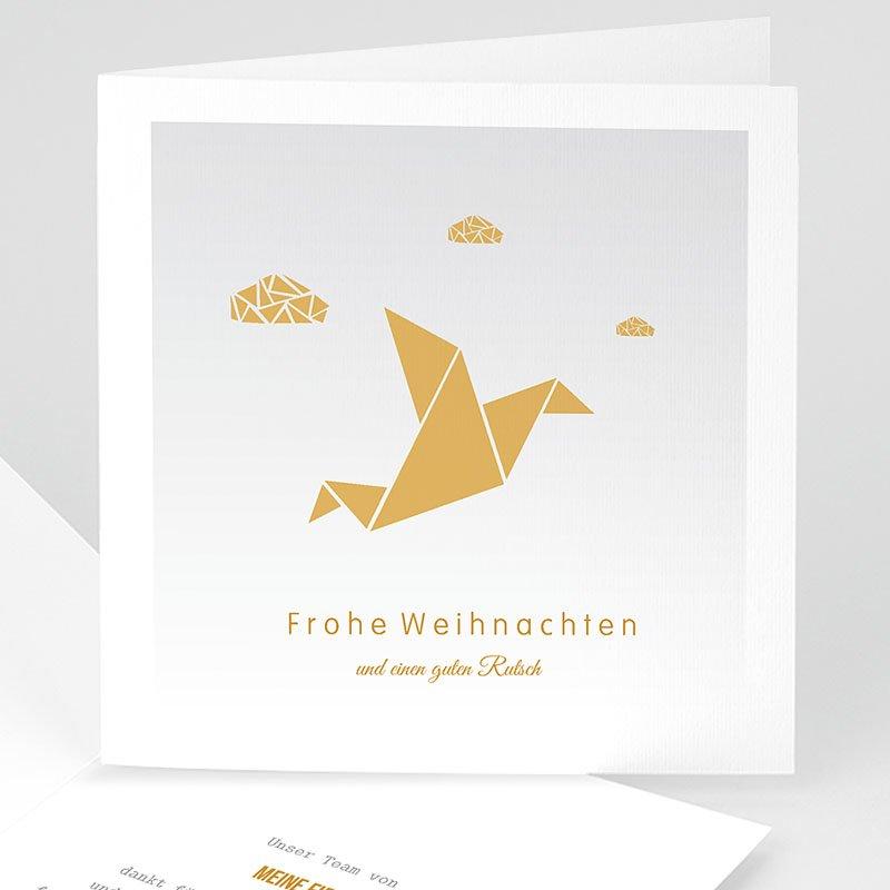 Geschäftliche Weihnachtskarten Wolken Origami