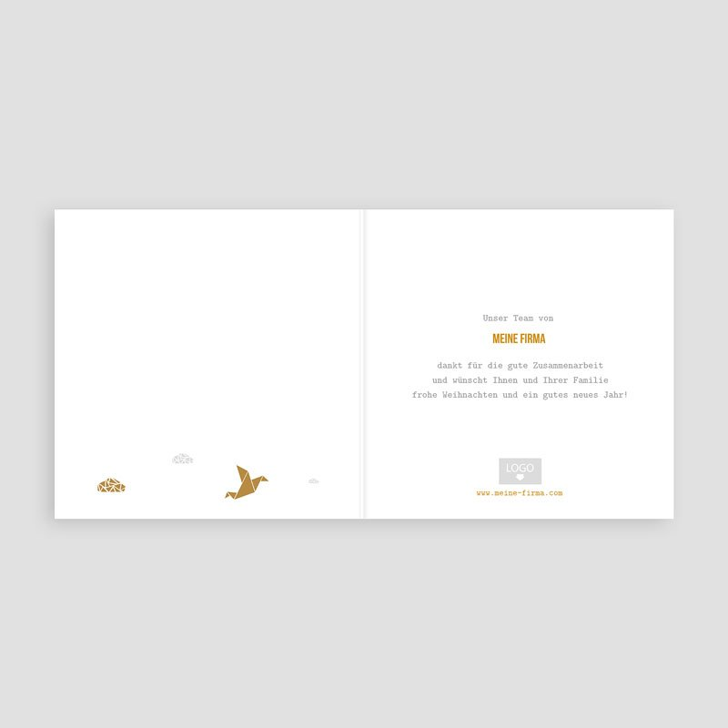 Geschäftliche Weihnachtskarten Wolken Origami pas cher