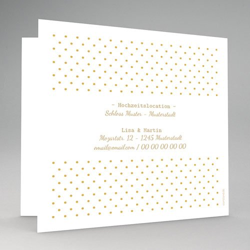 Hochzeitseinladungen Ja in Gold gratuit