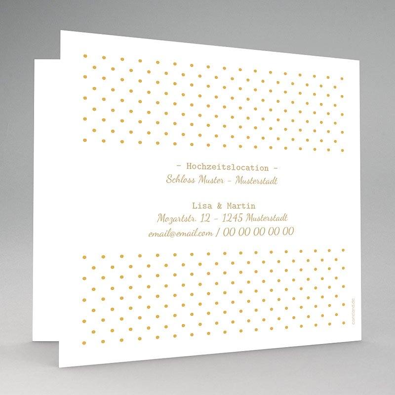 Elegante Hochzeitskarten Ja In Gold Carteland De