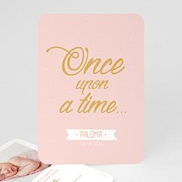 Karten Geburt Once Upon a Girl