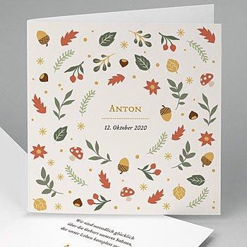 Geburtskarten für Jungen Herbst
