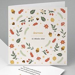 Karten Geburt Herbst