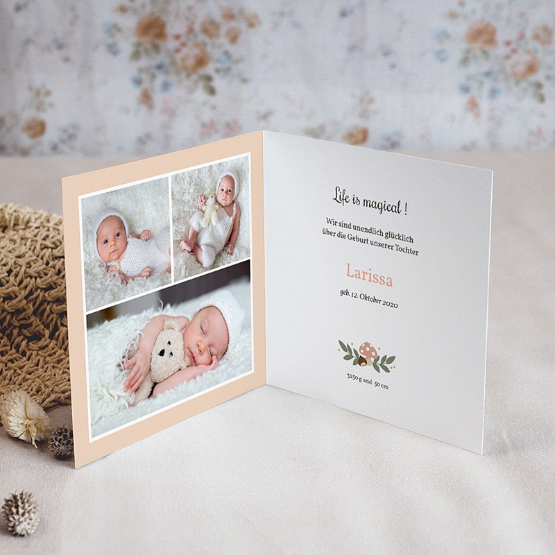 Geburtskarten für Mädchen Herbststimmung pas cher