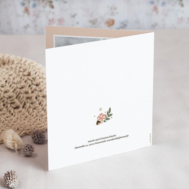 Geburtskarten für Mädchen Herbststimmung gratuit