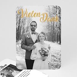 Danksagungskarten Hochzeit Vielen Dank Gold