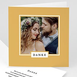 Danksagungskarten Hochzeit Chic