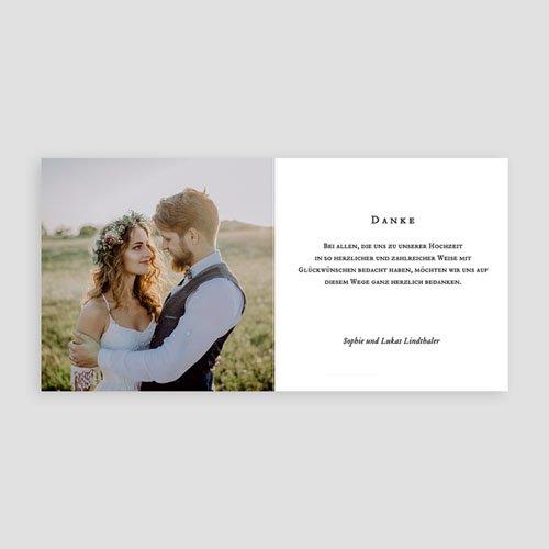 Stilvolle Danksagung Hochzeit - Chic 55624 test