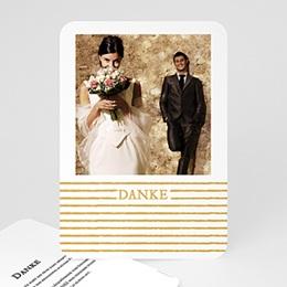 Danksagungskarten Hochzeit Streifen Gold