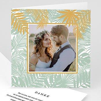 Stilvolle Danksagung Hochzeit - Tropical chic - 0