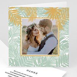 Danksagungskarten Hochzeit Tropical chic