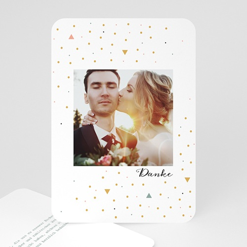 Kreative Dankeskarten Hochzeit  - Modern Dot 55659 test