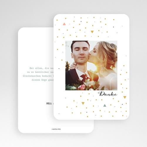 Kreative Dankeskarten Hochzeit  - Modern Dot 55661 test
