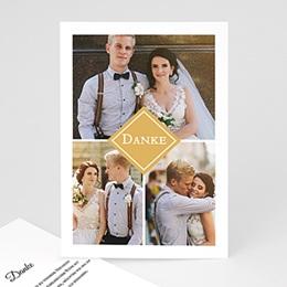 Danksagungskarten Hochzeit Love Story