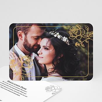 Klassische Dankeskarten Hochzeit  - Rosen - 0