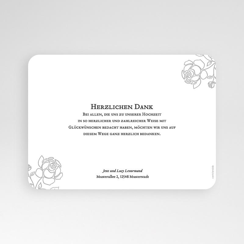 Klassische Dankeskarten Hochzeit  - Rosen 55678 thumb