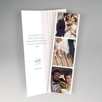Originelle Dankeskarte Hochzeit  - Boho Gold - 0