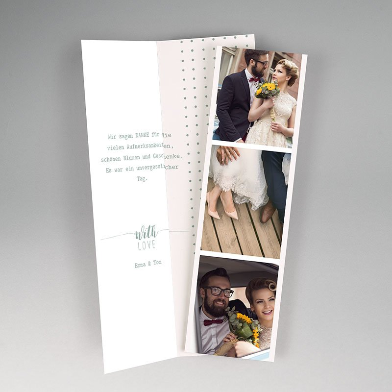 Originelle Dankeskarte Hochzeit  - Boho Gold 55695 thumb
