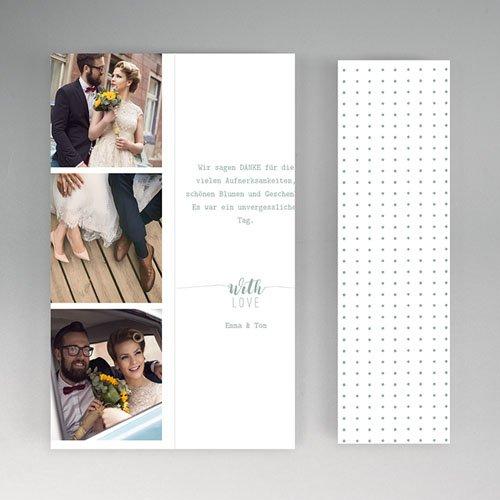 Originelle Dankeskarte Hochzeit  - Boho Gold 55696 thumb