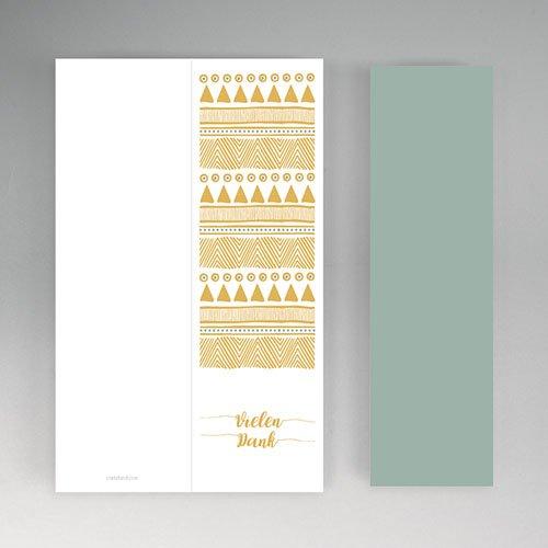 Originelle Dankeskarte Hochzeit  - Boho Gold 55697 thumb