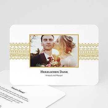 Klassische Dankeskarten Hochzeit  - Zierstreifen - 0