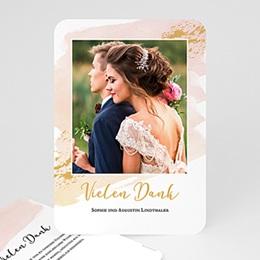 Danksagungskarten Hochzeit Aquarell Sanft