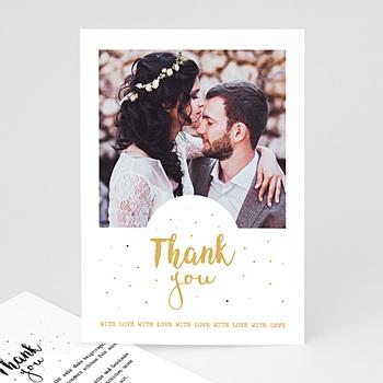 Dankeskarten Hochzeit mit Foto - Thank you - 0
