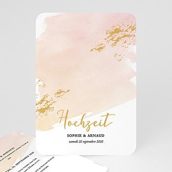 Elegante Hochzeitskarten  - Aquarell Sanft - 0