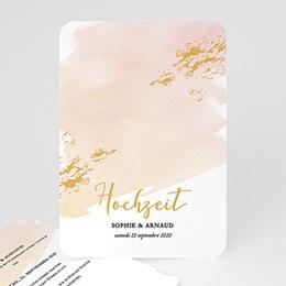Einladungskarten Hochzeit  Aquarell Sanft