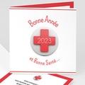 Geschäftliche Weihnachtskarten Kreuz Neujahr