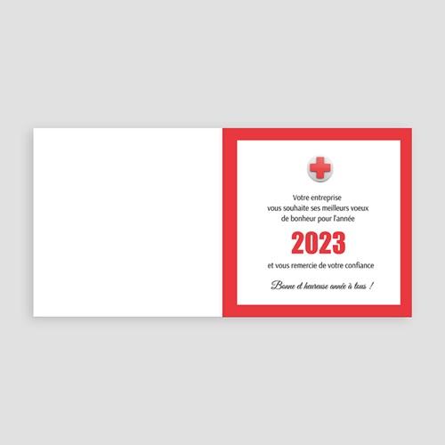 Geschäftliche Weihnachtskarten Kreuz Neujahr pas cher