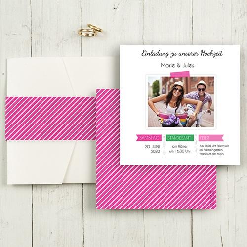 Hochzeitskarten Quadratisch - Pop 55813